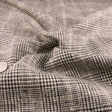 Black and White Wool Suiting fabric