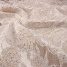Cream Polyester Brocade fabric