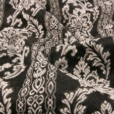 Black Polyester Brocade fabric