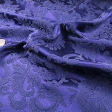 Blue Purple Polyester Brocade fabric
