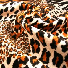 Black and Brown Polyester Faux-fur fabric