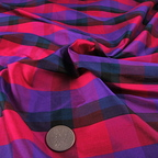 Hot Pink, Purple and Navy Blue Silk Charmeuse fabric