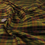Burgundy and Yellow Silk Shantung fabric