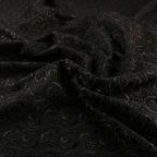 Black Cotton Eyelet fabric