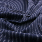 Navy Blue, Blue and White Cotton Denim fabric