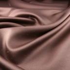 Brown Satin Peau De Soie fabric