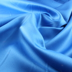 Blue Satin Peau De Soie fabric