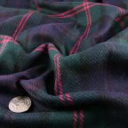 Navy Blue and Green Wool Coating fabric