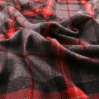 Gray and Red Wool Coating fabric