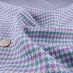 Purple and Green Wool Suiting fabric