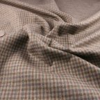 Brown and Taupe Wool Suiting fabric