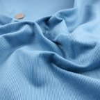 French Blue Cotton Corduroy fabric