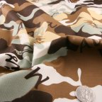 Brown Cotton Stretch fabric