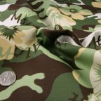 Green Cotton Stretch fabric