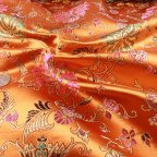 Burnt Orange Polyester Brocade fabric