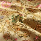 Gold Polyester Brocade fabric