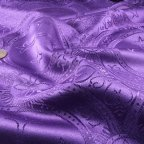 Purple Polyester Brocade fabric