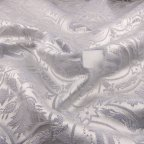 White Polyester Brocade fabric