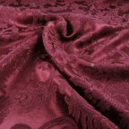 Wine Polyester Brocade fabric