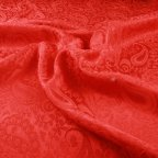 Red Polyester Jacquard fabric