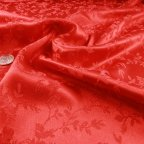 Red Polyester Brocade fabric