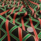 Black, Red, Green and Gold Cotton Poplin fabric
