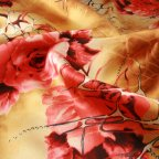 Yellow and Red Silk Charmeuse fabric