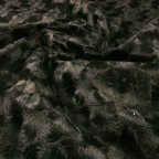 Black Polyester Faux-fur fabric