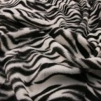 Black and White Polyester Faux-fur fabric
