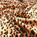 Brown Polyester Faux-fur fabric