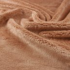 Beige Polyester Faux-fur fabric