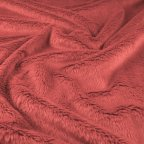 Rose Polyester Faux-fur fabric